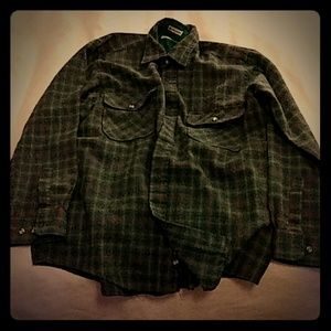 Vintage Sears and Roebuck Button Down Wool Shirt